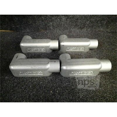 """Box of 4 Crouse-Hinds LR38 1"""" Form 8 Conduit Bodies, Iron Alloy"""