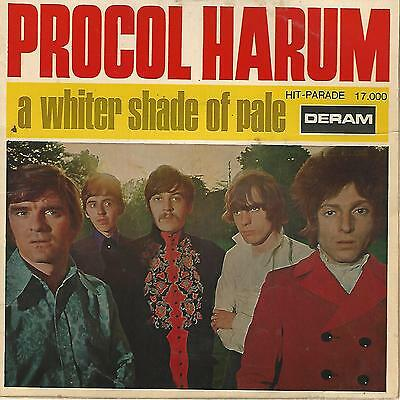 """Procol Harum """" A Whiter Shade Of Pale / Lime Street Blues"""" 7"""" Made In France"""