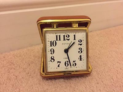 Vintage Estyma Travel Alarm Clock For Spares Or Repair