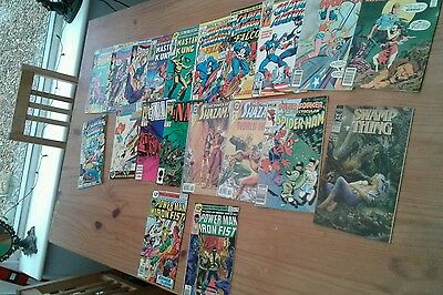 Bronze  age up comic lot,wonder woman,captain america,many in fine condition