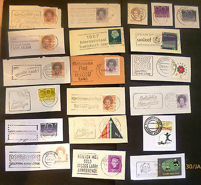 Netherlands postage stamps - 20 x various postmarks - collection odds