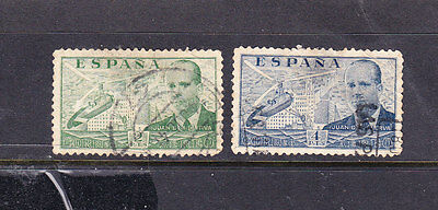 Spain postage stamps - 2 x Used 1939 AirMail Perf 11