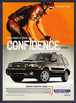 2003 Lance Armstrong photo Subaru Forester promo ad