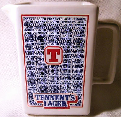 Wade Pub Ware Tennent's Lager Rectangular Shaped Jug
