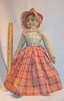 Old Maine Topsy Turvy Rag Cloth Doll