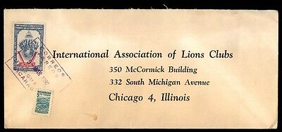 international Lions Club 1952 cover to Chicago USA from Nicaragua