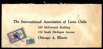 Nicaragua 60 rate cover to Lions club to Chicago Illinois USA