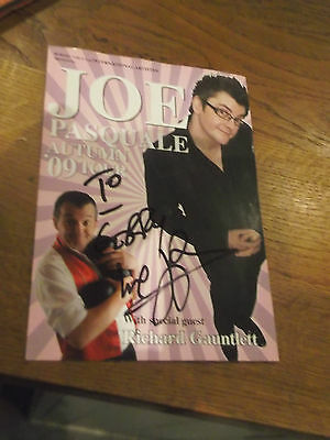 Joe Pasquale Theatre Flyer Hand Signed -With Dedication