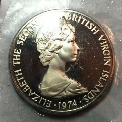 BRITISH VIRGIN ISLANDS 1974 50 cent coin proof