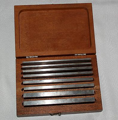 Starrett # 384  Full Set of Machinist Parallels  good condition in orig. box