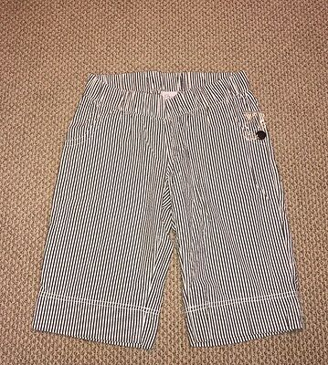 Women's Oh Baby By Motherhood Gray Striped Stretch Casual Shorts Size Medium NWT