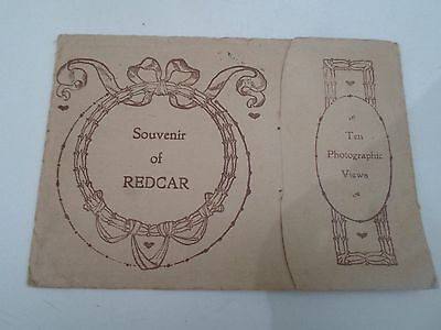 Souvenir Letter Card REDCAR 10 Photographic View   Franked 1915