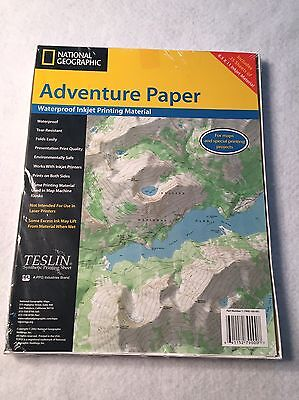 National Geographic Adventure Paper - Inkjet Printers - Waterproof - 25 Sheets