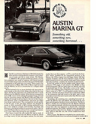 1973 Austin Marina Gt ~ Original 3-Page Road Test / Article / Ad