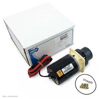 Jabsco 37072-0092 Motor Pump 12V Quiet Flush & Designer Series Electric Toilets