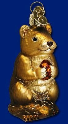 Old World Christmas Chipmunk with Nut Glass Ornament 12145 Decoration FREE BOX