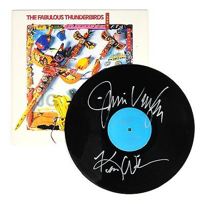 """The Fabulous Thunderbirds - Classic Rock Band - Autographed """"Tuff Enuff"""" Record"""