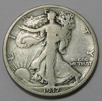 1917-S Walking Liberty Silver Half Dollar. WHOLESALE!