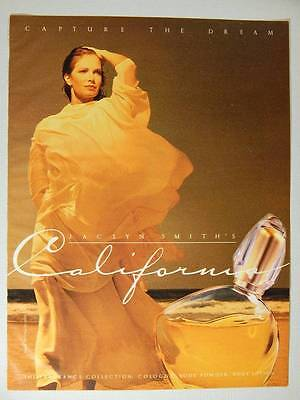 Jaclyn Smith California Cologne Magazine Ad Page 1992 - Max Factor Fragrance