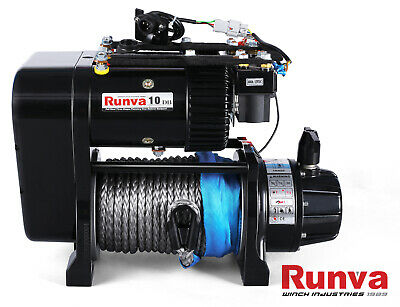 Runva Atv Series 12V 3500Lb / 1588Kg With Steel Cable Recovery Winch