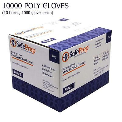 Food Service Gloves Economy  Poly Ambidextrous  Small  1000/Box