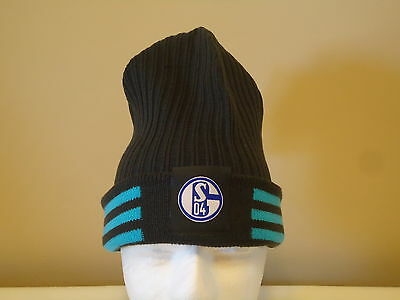 Schalke 04 Official Licensed Adidas Woolie Beanie Adults New