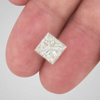 3.21 Carat Princess Cut Loose Diamond - H Color VS1 Clarity Enhanced #D2552