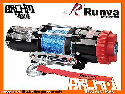 Runva Atv Series 12V 4500Lb / 2041Kg With Dyneema Rope Recovery Winch-Ewt4500