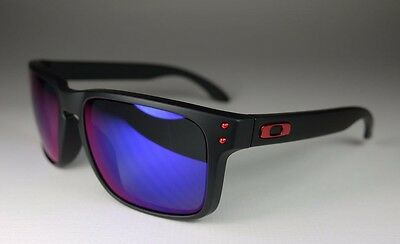 OAKLEY matte black/positive red iridium HOLBROOK OO910236 sunglasses NEW IN BOX