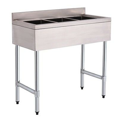 3 Compartment Stainless Steel Kitchen Commercial Sink Heavy Duty Restaurant Cook