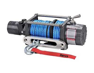 Runva 4X4 Hydraulic Series Hwd12000 12V With Dyneema Rope Recovery Winch