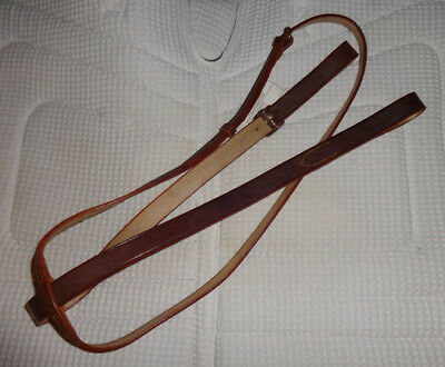 LIBERTYVILLE BORDEAUX Standing Martingale - Quality, Soft Brown Leather - NEW!