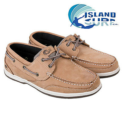 Island Surf Parchment Brown Leather Boat Shoes - Men's 10W