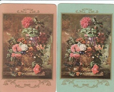 Vintage Swap / Playing Card - 2 Single -  Flowers W