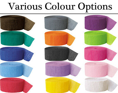 Colour Choice - 24.6m Crepe Paper Streamer Roll - Crafts & Parties