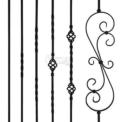 5x 10x 15x  Matte BLACK Iron Balusters Iron Spindles METAL Stair Parts