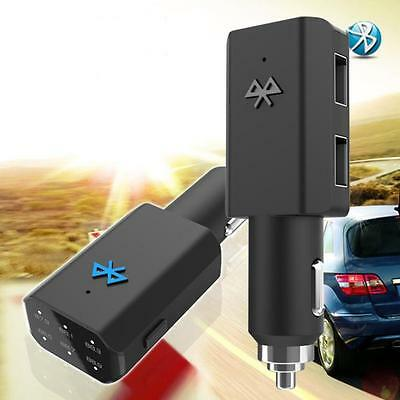 Bluetooth Car Kit MP3 FM Transmitter USB Charger Handsfree For iPhone BLACK