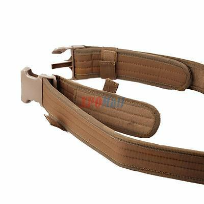 Tactical Nylon Bungee Adjustable Quick Release Military Police Duty Belt Tan %%