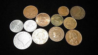 Twelve Assorted Small Foreign Coins Lot C35