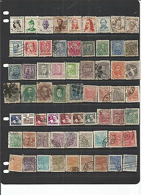 Brazil 64 Small Used Stamps.   See Scan