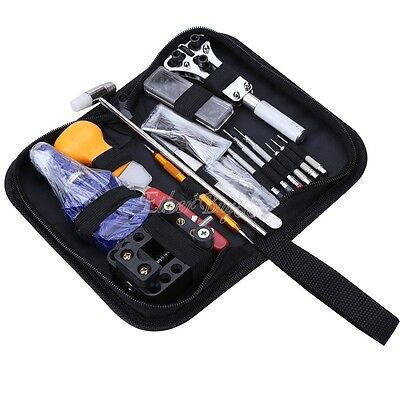 New Watch Repair Tool Kit Case Opener Hand Remover Spring Bars Case Press