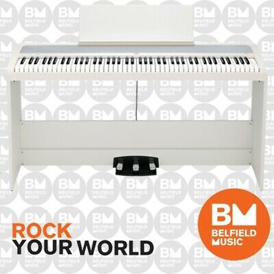 Korg B1-SP Digital Piano w/ Stand & 3 Pedals White B1SP - BNIB - Belfield Music