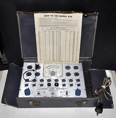 Vintage Superior Instruments Co Sico Model 62A Radio Tube Tester W Instructions