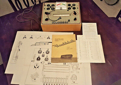 Heathkit Tc-2 Benchtop Tube Tester Works With Manual And Extras