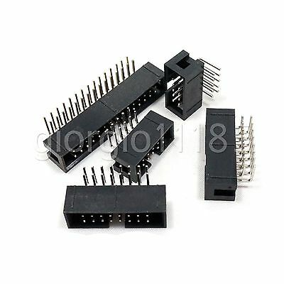 10 pcs 14 Pin 14P DC3 JTAG ISP Male Header Socket Connector 2.54mm Right Angle
