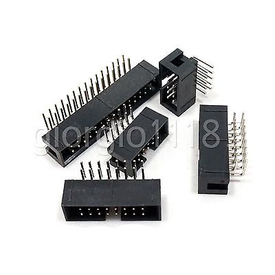 10 pcs 30 Pin 30P DC3 JTAG ISP Male Header Socket Connector 2.54mm Right Angle