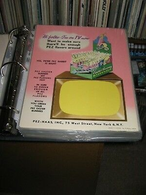 PEZ ad sheet 1950s EASTER BUNNY TV store display candy box