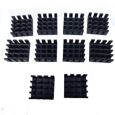 US Stock 10pcs 14 x 14 x 7mm Heat Sink Cooling Aluminum Heatsink CPU IC LED