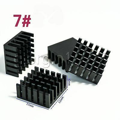 US Stock 10pcs 22 x 22 x 10mm Heat Sink Cooling Aluminum Heatsink CPU IC LED