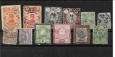 1879/1894 -Persia - Lot 12 Stamps - -Old Colection -No Gum